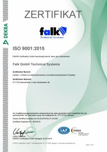 Falk GmbH Technical Systems ISO9001:2015