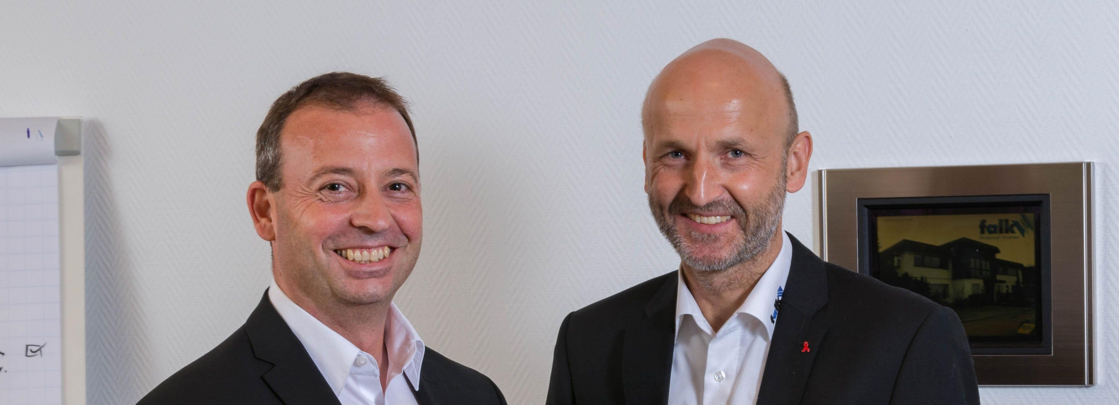 Falk GmbH Technical Systems - die Geschäftsführer Andreas Falk und Heinz-Peter Wolf